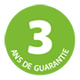 3 years guarantee logo